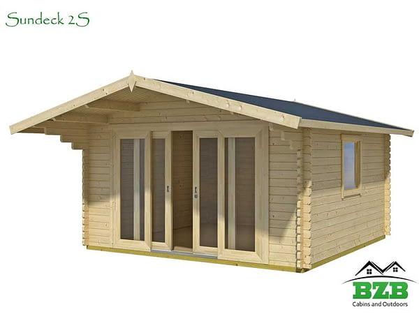Log Cabin kit with Sliding doors