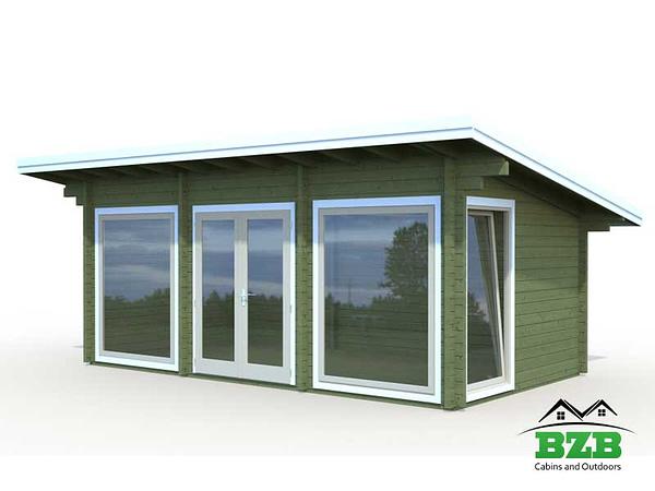 BlueBell Log Cabin Dark Green