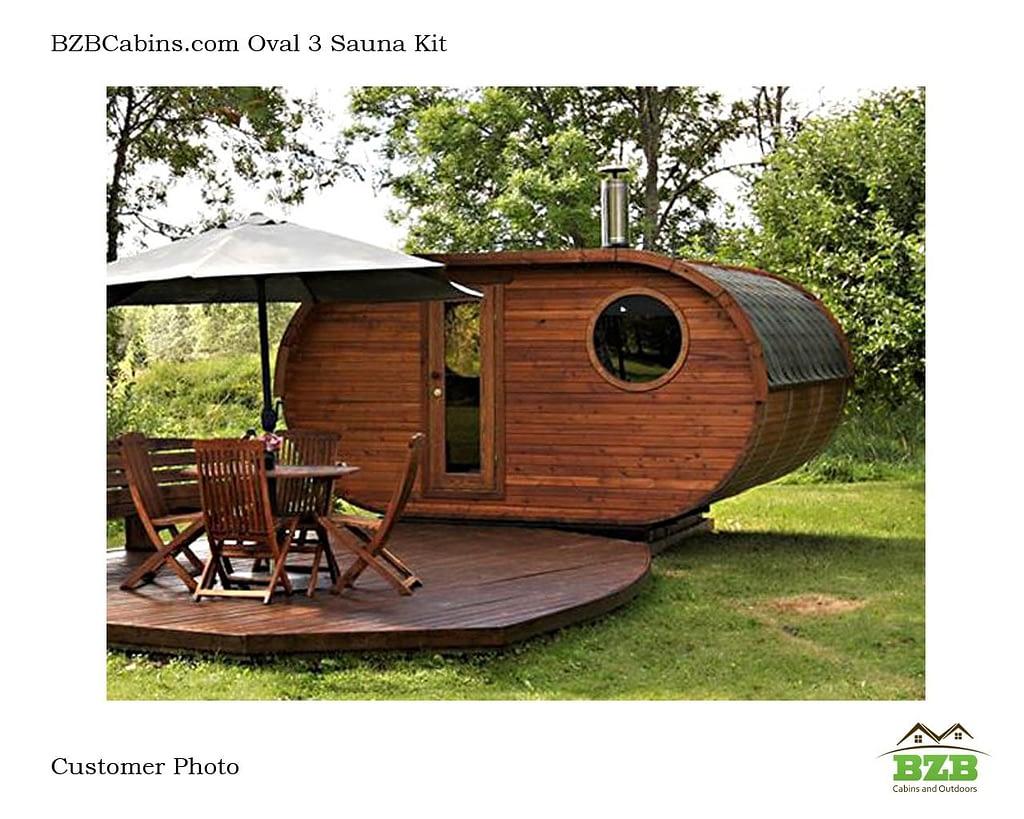 Barrel Sauna Kit Customer Photo