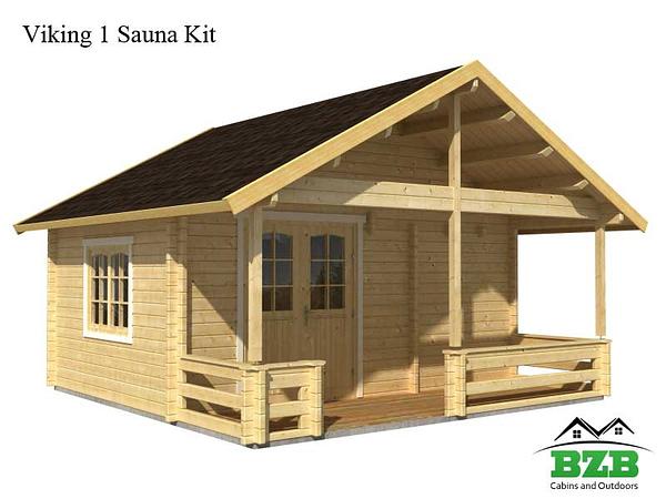 Viking 1 Sauna Kit White