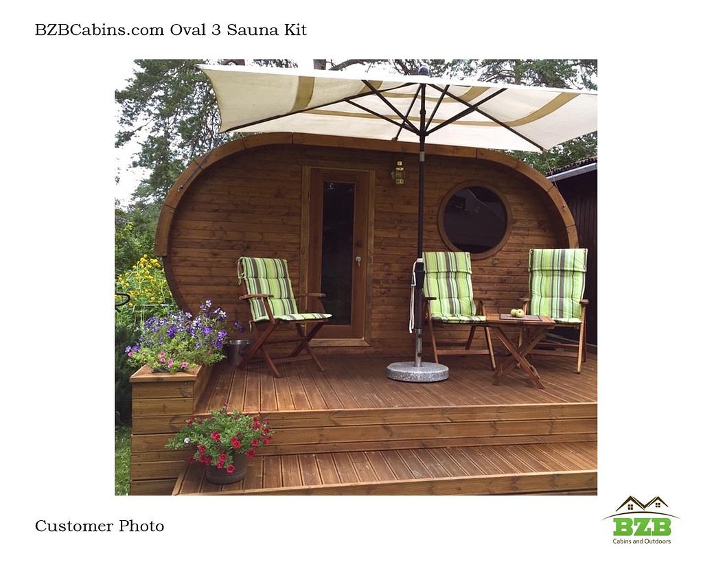 Outdoor Sauna Kit BZBOVal3 Customer Photo