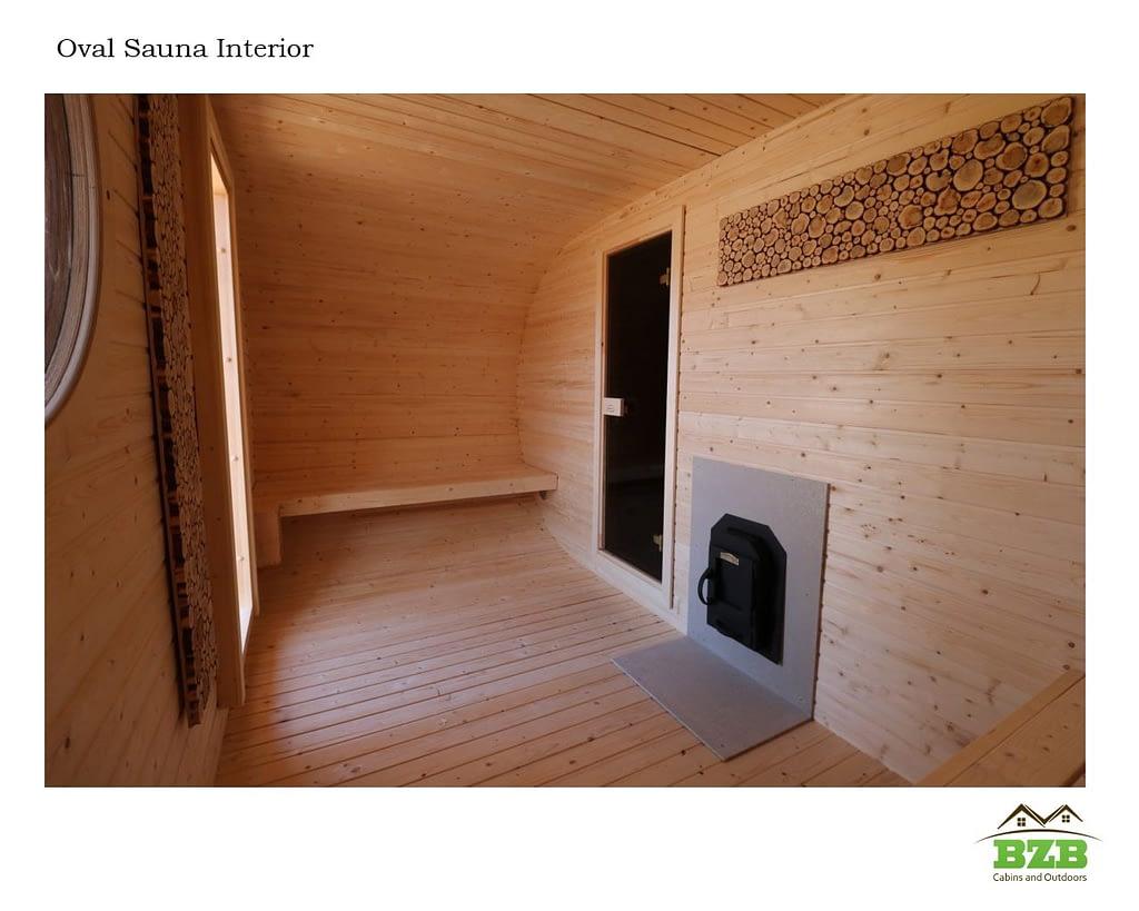 Barrel Sauna Oval 3 Changing Room